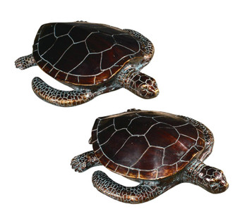 Sheldon Sea Turtle Statues, Set of 2