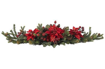 Poinsettia and Berry Centerpiece