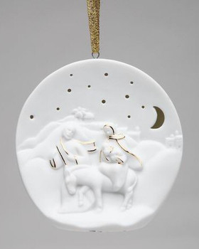Flight into Egypt Christmas Tree Ornaments, Set of 4