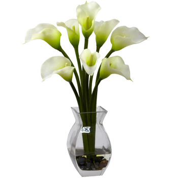 Classic Cream Calla Lily Silk Flower Arrangement