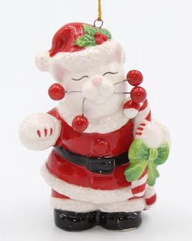 Santa Cat Christmas Tree Ornaments, Set of 4