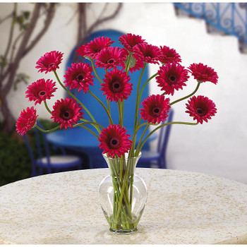 Gerber Daisy Liquid Illusion Silk Arrangement - Beauty