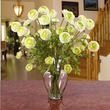 Ranunculus Liquid Illusion Silk Arrangement - Cream