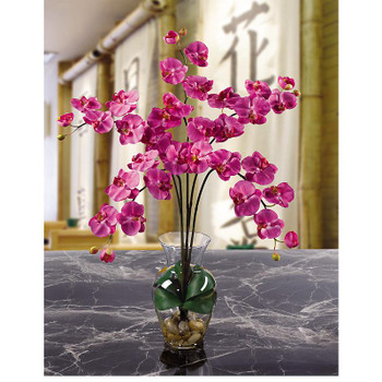 Phalaenopsis Liquid Illusion Silk Arrangement - Dark Pink