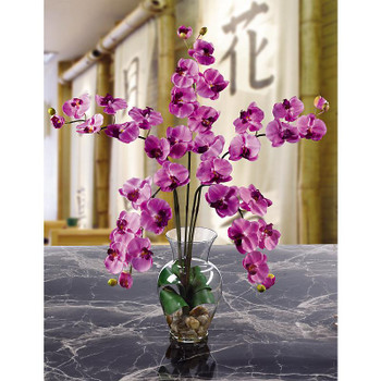 Phalaenopsis Liquid Illusion Silk Arrangement - Mauve