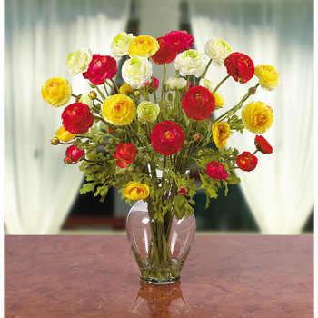 Ranunculus Liquid Illusion Silk Arrangement - Assorted