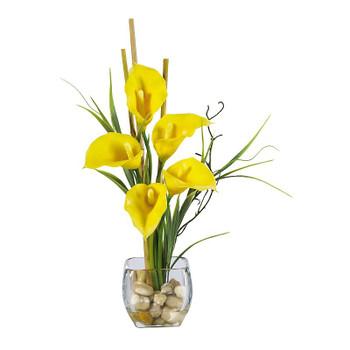 Calla Lily Liquid Illusion Silk - Yellow