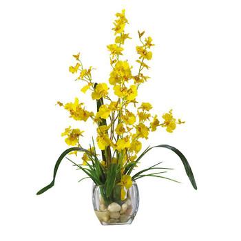 Dancing Lady Orchid Liquid Illusion Silk - Yellow