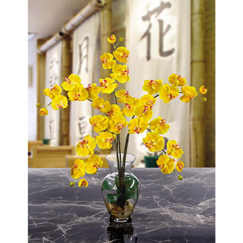 Phalaenopsis Liquid Illusion Silk Arrangement - Gold