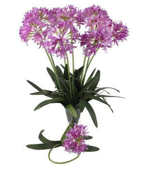 "29"" African Lily Silk Flower Stem - Pink, Set of 12"