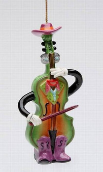 Western and Country Fiddler Tree Ornaments by Ed Sussman, Set of 4