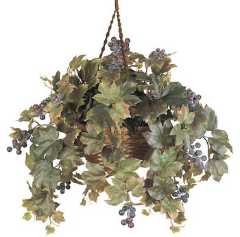 Grape Leaf Hanging Basket Silk Plant