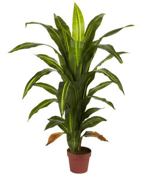 4' Dracaena Real Touch Silk Plant