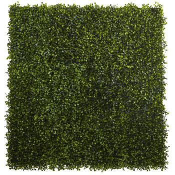 "12"" x 10"" Boxwood Silk Plant Mat, Set of 12"