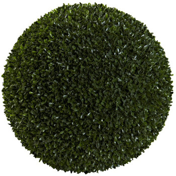 "19"" Boxwood Ball Silk Plant, Indoor Outdoor"