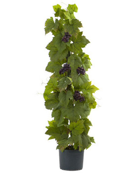 40' Grape Leaf Deluxe Climbing Silk Plant
