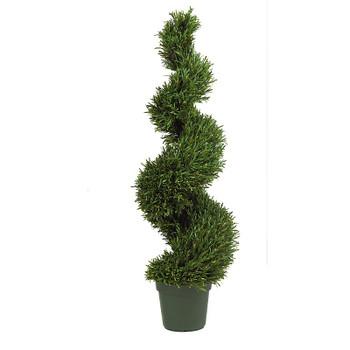 4' Rosemary Spiral Silk Tree, Indoor Outdoor