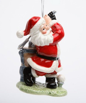 Golfing Golf Santa Christmas Tree Ornaments, Set of 4