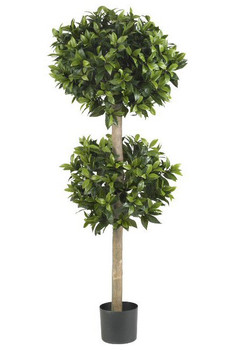 "57"" Sweet Bay Double Ball Topiary Silk Tree"
