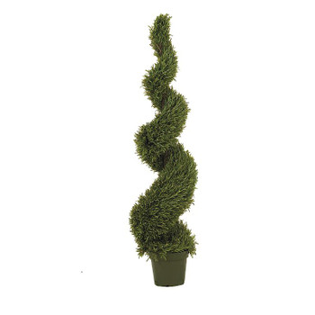 5' Rosemary Spiral Silk Tree, Indoor Outdoor