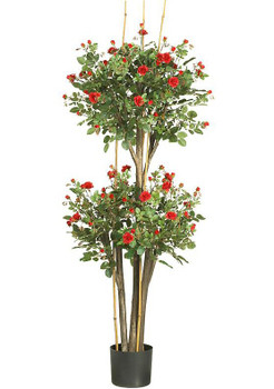 5' Mini Rose Silk Tree