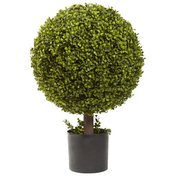 "27"" Silk Boxwood Ball Topiary"