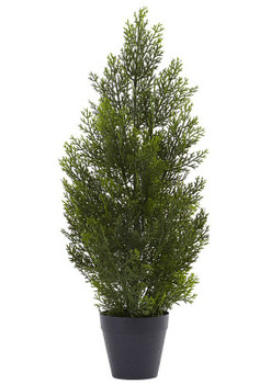 2' Mini Cedar Pine Silk Tree, Indoor Outdoor