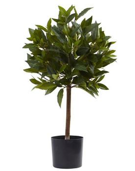 2' Sweet Bay Mini Ball Topiary Silk Tree