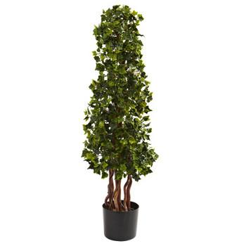 3.5' Silk English Ivy Spiral UV Resistant Indoor Outdoor