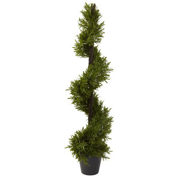 "39"" Rosemary Spiral Silk Tree Indoor Outdoor"