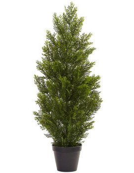 3' Mini Cedar Pine Silk Tree, Indoor Outdoor