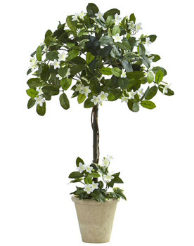 3' Stephanotis Topiary Silk Tree with Planter
