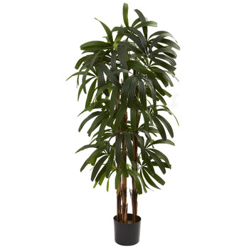4' Silk Raphis Palm Tree