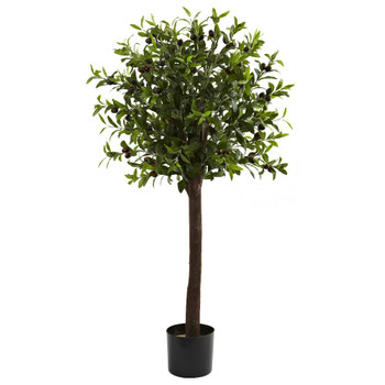 4' Olive Topiary Silk Tree