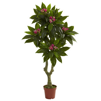 5' Silk Plumeria Tree UV Resistant Indoor Outdoor