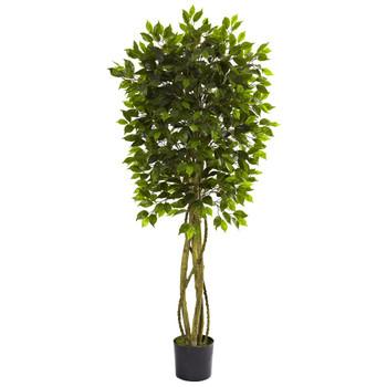 5.5' Silk Ficus Tree UV Resistant Indoor Outdoor