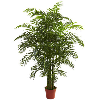 6.5' Silk Areca Palm UV Resistant Indoor Outdoor