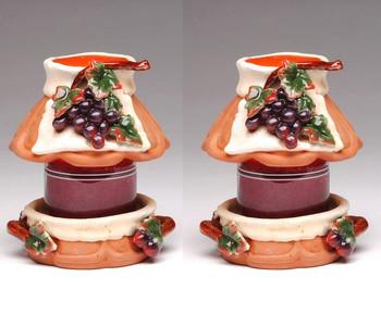 Grape Candle Jar Holder and Shade, Set of 2