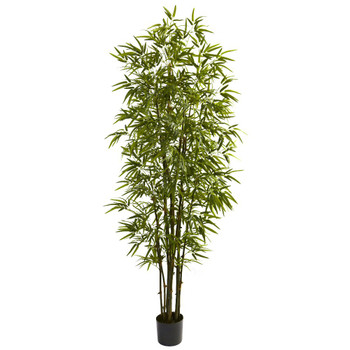 7' Green Silk Bamboo Tree