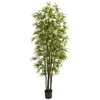 7' Green Silk Bamboo Tree