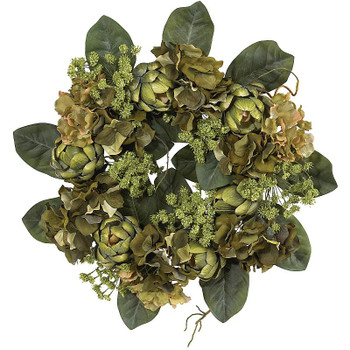 "18"" Silk Artichoke Wreath"