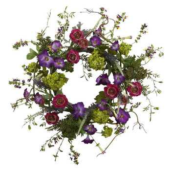 "20"" Veranda Garden Silk Wreath"