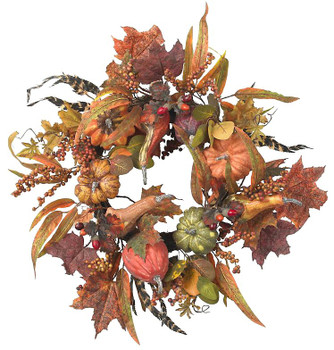 "24"" Pumpkin and Berry Wreath"