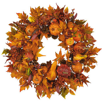 "28"" Silk Harvest Wreath"