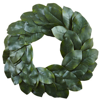 "24"" Magnolia Leaf Silk Wreath"
