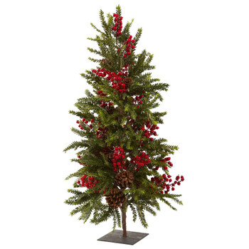 "36"" Pine & Berry Artificial Christmas Tree"