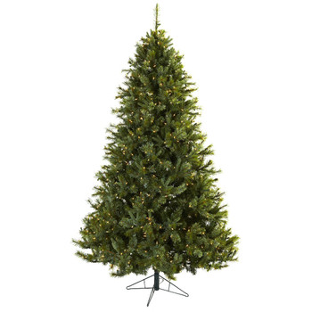 7.5' Majestic Multi-Pine Artificial Christmas Tree with Clear Lights