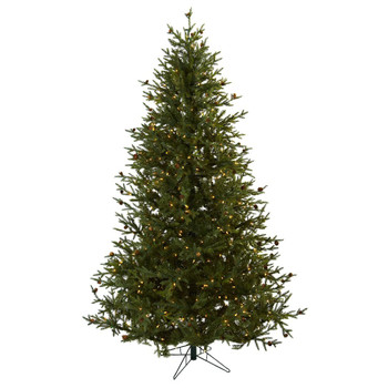 7.5' Classic Pine & Pine Cone Artificial Christmas Tree
