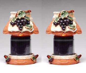 Large Grape Candle Jar Holder and Shade, Set of 2