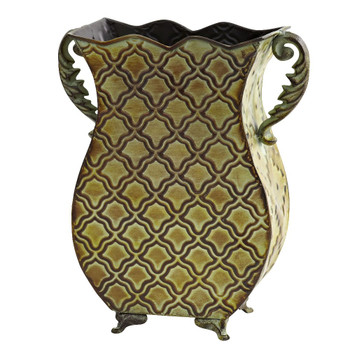 Venetian Verdigris Metal Planter Vase